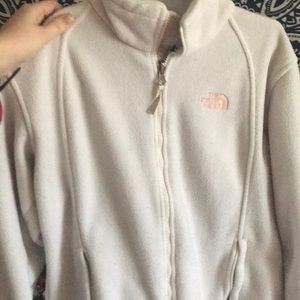 White North Face fleece